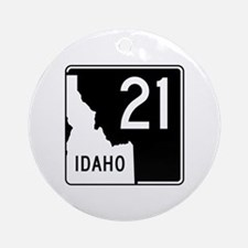 Route 21, Idaho Ornament (Round)