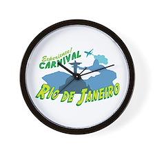 Experience! Carnival Rio De Janeiro Wall Clock