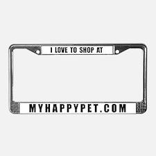 MYHAPPYPET.COM License Plate Frame