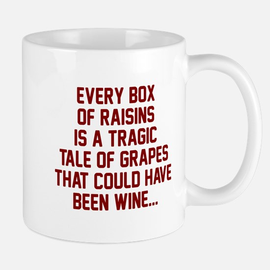 Box of raisins tragic Mug