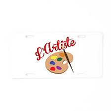 Artist Palette Aluminum License Plate