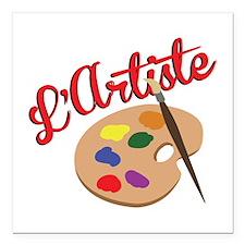 "Artist Palette Square Car Magnet 3"" x 3"""