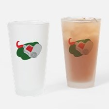 Red Paint Drinking Glass