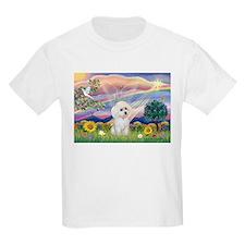 Cloud Angel & White Poodle T-Shirt
