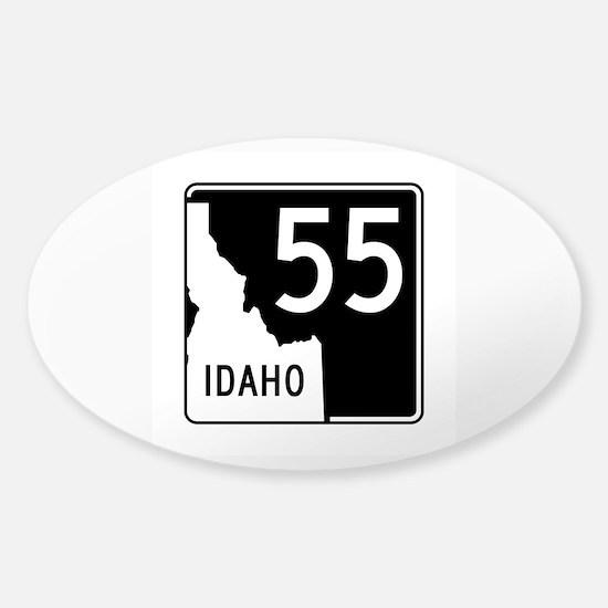 Route 55, Idaho Sticker (Oval)