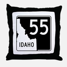 Route 55, Idaho Throw Pillow