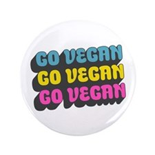 "CMYK Go Vegan 3.5"" Button"