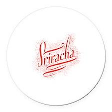 Sriracha Round Car Magnet