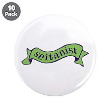"""Green Seitanist 3.5"""" Button (10 pack)"""