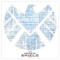SHIELD Logo Alien Writing Wall Art Framed Print