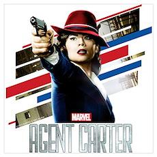 Agent Carter Stripes Wall Art Poster
