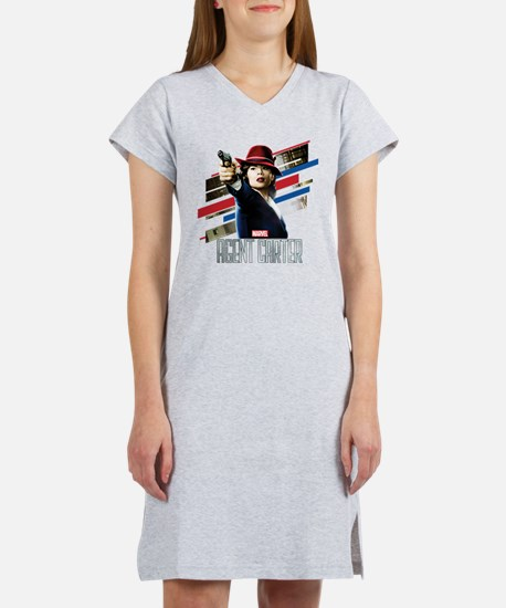 Agent Carter Stripes Women's Nightshirt