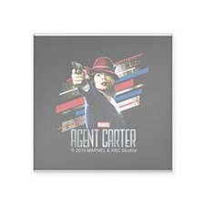 "Agent Carter Stripes Square Sticker 3"" x 3"""