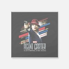 "Agent Carter Stripes Square Sticker 3"" x 3"""