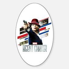 Agent Carter Stripes Sticker (Oval)