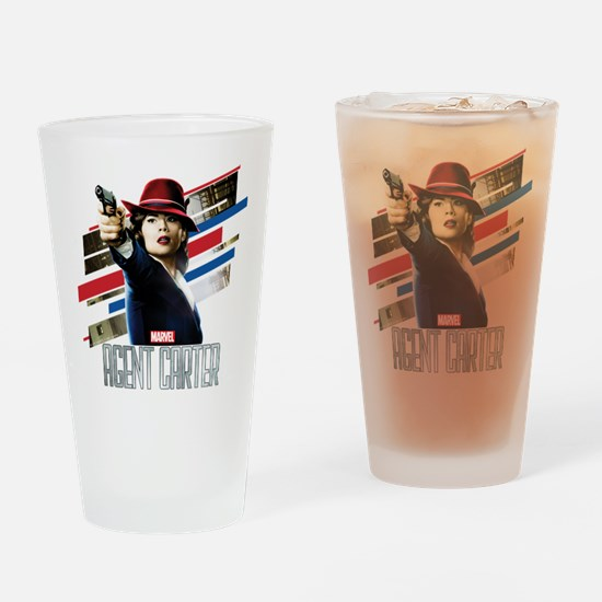 Agent Carter Stripes Drinking Glass