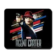 Agent Carter Stripes Mousepad