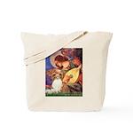 Mandolin Angel & Papillon Tote Bag
