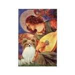 Mandolin Angel & Papillon Rectangle Magnet (10 pac