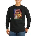 Mandolin Angel & Papillon Long Sleeve Dark T-Shirt