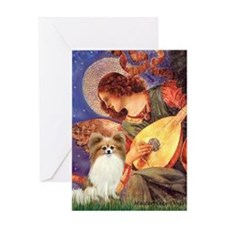 Mandolin Angel & Papillon Greeting Card