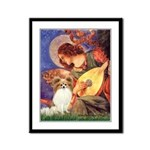 Mandolin Angel & Papillon Framed Panel Print
