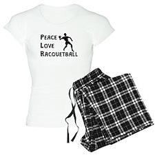 Peace Love Racquetball Pajamas