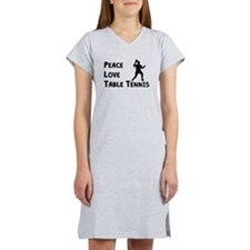 Peace Love Table Tennis Women's Nightshirt