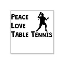 Peace Love Table Tennis Sticker