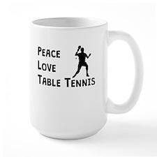 Peace Love Table Tennis Mugs