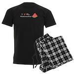 I Love Watermelon Men's Dark Pajamas