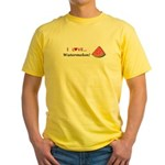 I Love Watermelon Yellow T-Shirt