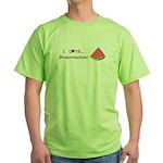 I Love Watermelon Green T-Shirt