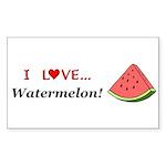 I Love Watermelon Sticker (Rectangle 50 pk)