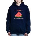 I Love Watermelon Women's Hooded Sweatshirt