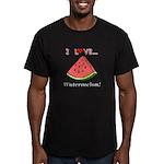 I Love Watermelon Men's Fitted T-Shirt (dark)