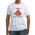 I Love Watermelon Fitted T-Shirt