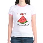 I Love Watermelon Jr. Ringer T-Shirt