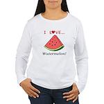 I Love Watermelon Women's Long Sleeve T-Shirt