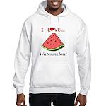 I Love Watermelon Hooded Sweatshirt