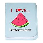 I Love Watermelon baby blanket
