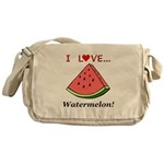 I Love Watermelon Messenger Bag