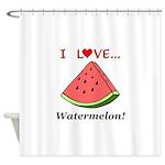 I Love Watermelon Shower Curtain