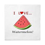 I Love Watermelon Queen Duvet