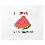 I Love Watermelon King Duvet