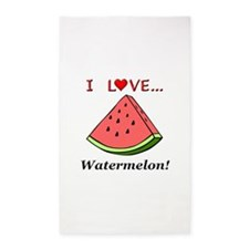 I Love Watermelon Area Rug