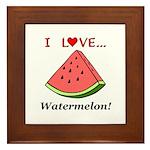 I Love Watermelon Framed Tile