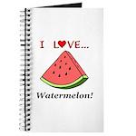 I Love Watermelon Journal