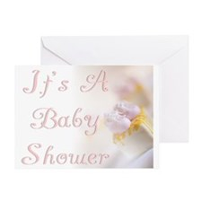 Baby Shower (booties) Greeting Card