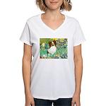 Irises / Papillon Women's V-Neck T-Shirt